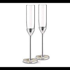 Vera Wang Champagne With Love Pearl Flutes